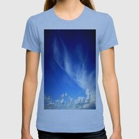 Cloud Formations Womens Fitted Tee Athletic Blue SMALL