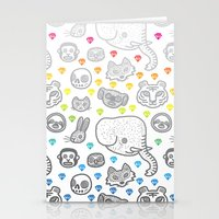 Hypno Animals Stationery Cards