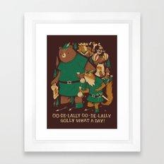 Oo-de-lally (brown Versi… Framed Art Print