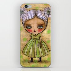Dandelion Girl in Yellow And Green iPhone & iPod Skin