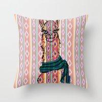 Llama Mix Throw Pillow