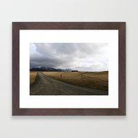 Amazing Landscape in Iceland Framed Art Print