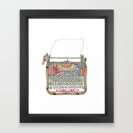 Framed Art Print featuring I DON'T KNOW WHAT TO WRI… by Bianca Green