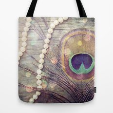 Feathers & Pearls Tote Bag