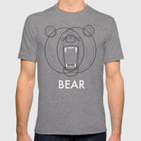Bear Mens Fitted Tee Tri-Grey SMALL