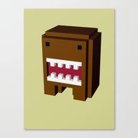 japan monster Canvas Print