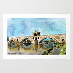 danse sur le pont Art Print