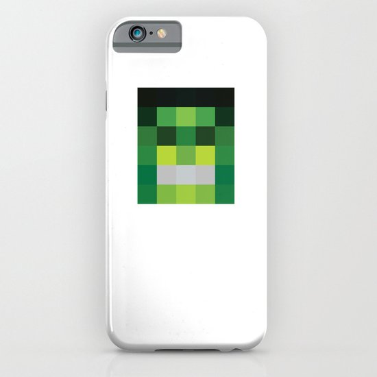 hero pixel green black iPhone & iPod Case