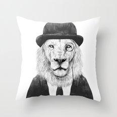 Sir lion Throw Pillow