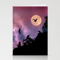 Crow meeting Stationery Cards
