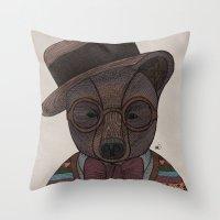 Mr. B. Throw Pillow