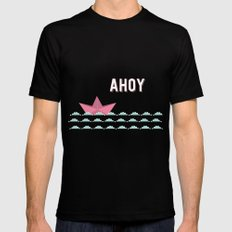 ahoi blue Mens Fitted Tee Black SMALL