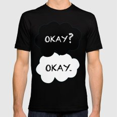Okay Mens Fitted Tee Black SMALL