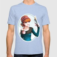 Rose et l'oiseau Mens Fitted Tee Tri-Blue SMALL