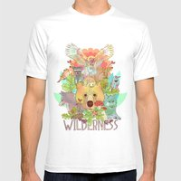 Wilderness Mens Fitted Tee White SMALL