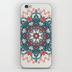 Coral & Teal Tangle Medallion iPhone & iPod Skin