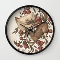 Coyote Love Letters Wall Clock