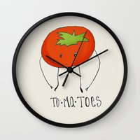 To-ma-toes Wall Clock