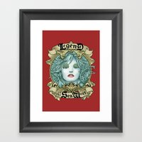 Legend of the Sea Wolf Framed Art Print