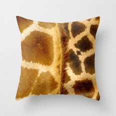 Giraffe skin. Throw Pillow