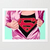 Girl, You're Super Art Print
