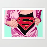 Girl, You're Super Art Print