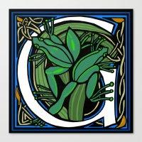 Celt Frog Letter G Canvas Print
