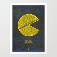 Pac-Man Typography Art Print