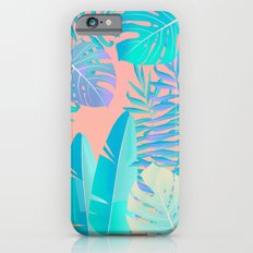 Tropics ( monstera and banana leaf pattern ) iPhone 6 Slim Case