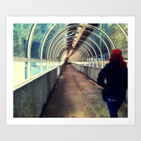Onward Into The Tunnel Forbidden  Art Print