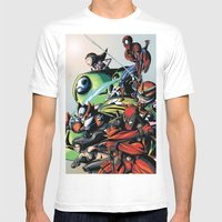 CartoonMix Mens Fitted Tee White SMALL