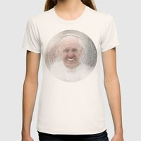 ArcFace - Papa Francesco Womens Fitted Tee Natural SMALL
