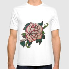 Rose SMALL White Mens Fitted Tee
