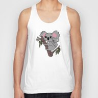 Kawaii Koalas Mother And… Unisex Tank Top