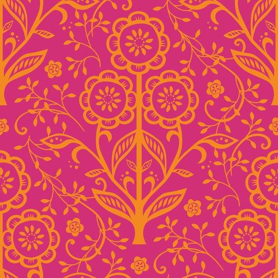 Cut Paper Citrus Flowers - pink Art Print