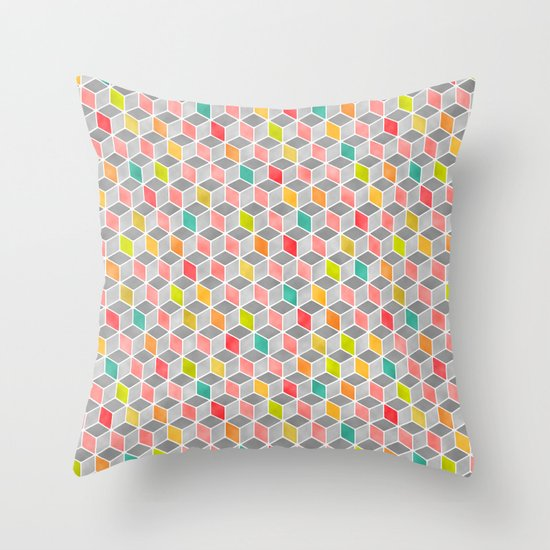 Block Party Bright Throw Pillow