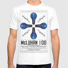 McLuhan 100  Mens Fitted Tee SMALL White