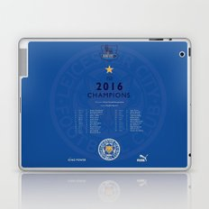 Tribute to Leicester Football Club - 2016 Premier League Champions, BLUE version Laptop & iPad Skin