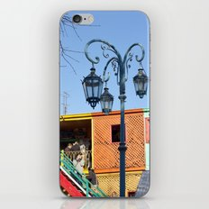 Street Lights of La Boca III iPhone & iPod Skin