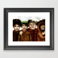 Going Down To South Park Framed Art Print
