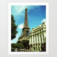 Sunny Day In Paris Art Print