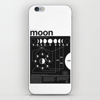 Phases of the Moon infographic iPhone & iPod Skin