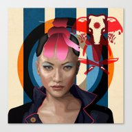 Canvas Print featuring Queen Of Darkness Far Cr… by Milanova