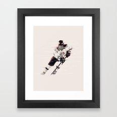 Hockey Player Framed Art Print