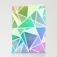 Rainbow Fractal  Stationery Cards