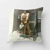 Winter Warrior Throw Pillow