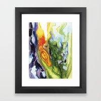 Serpent Seed Twin Birthing Fire Moss Framed Art Print