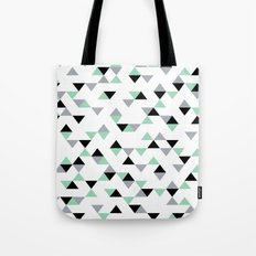 Triangles Mint Grey Tote Bag