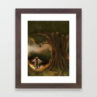 Under the Great Old Tree Framed Art Print