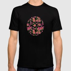 April blooms(Bougainvillea_blue) Mens Fitted Tee SMALL Black